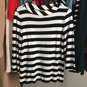 Chico's Super Soft Black and White Blouse